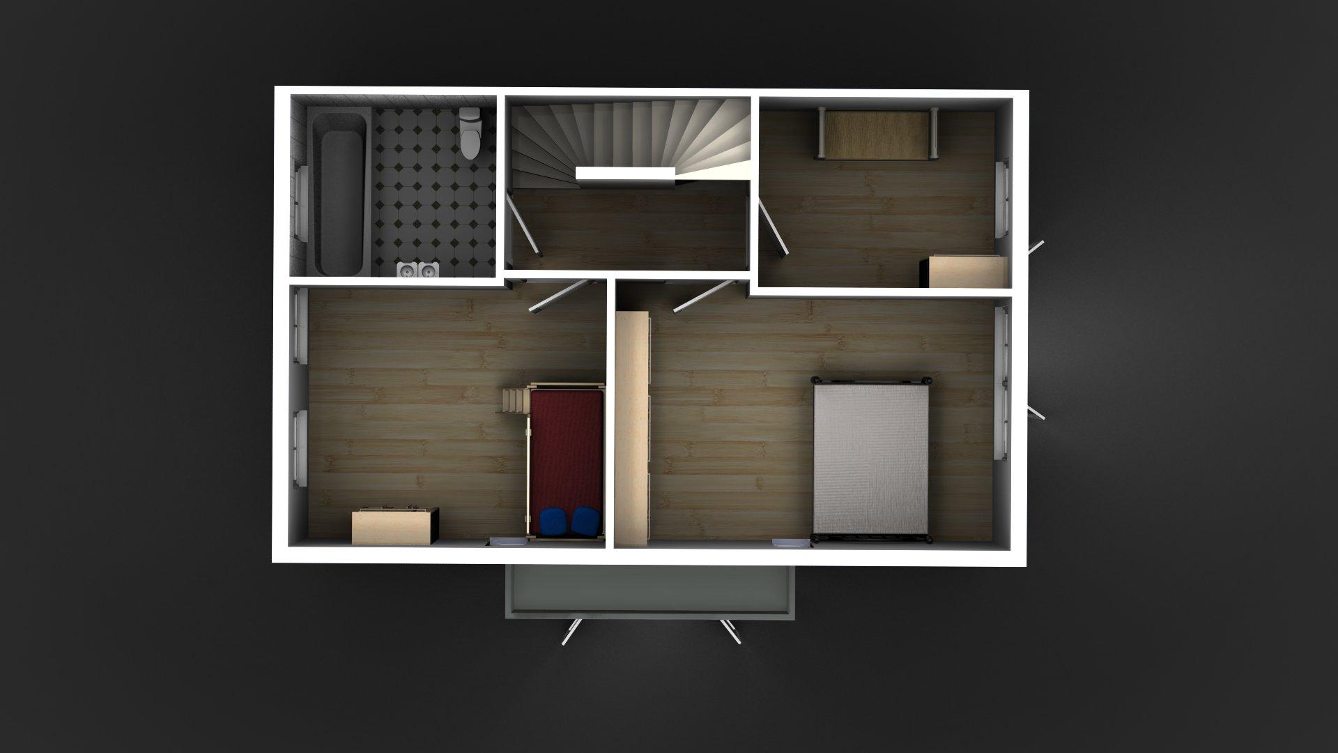 Layout eerste verdieping